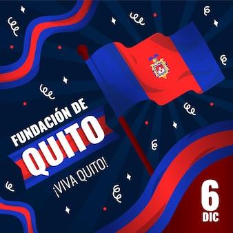 Fundacion de quito 및 깃발