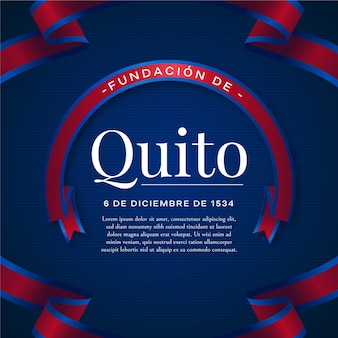 Fundacion de quito blue and red ribbon
