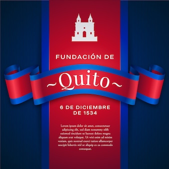 Fundacion de quito and white castle shape