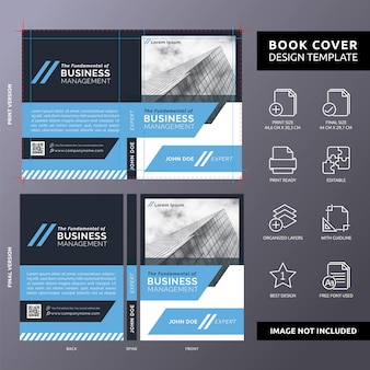 The fundamental of business management book cover template
