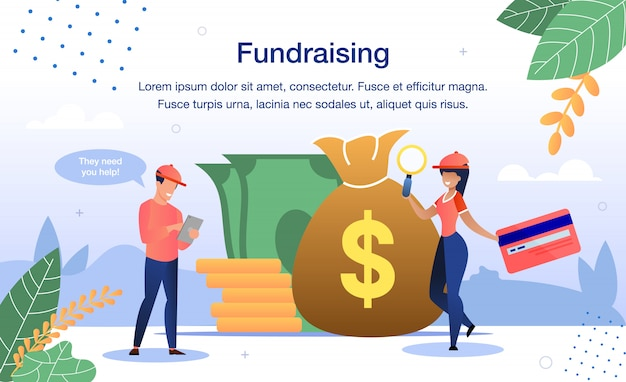 Fundraising for charity needs