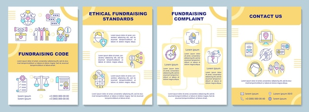 Fundraising code brochure template. ethical fundraising standards.