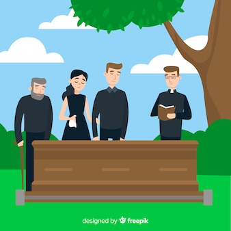 Funeral ceremony background