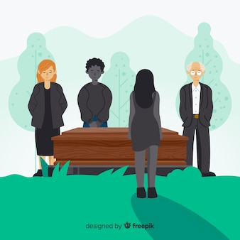 Sfondo cerimonia funebre