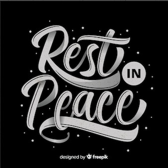 Funeral lettering background