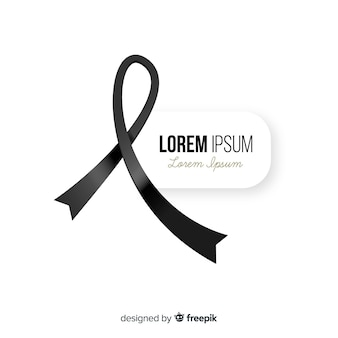 Funeral ribbon background