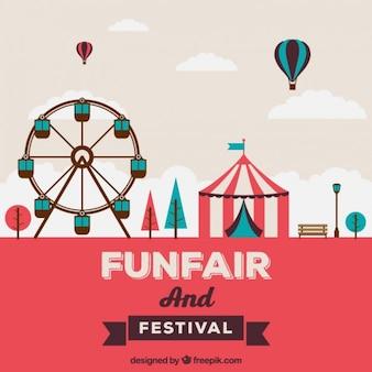 Funfair in flat design