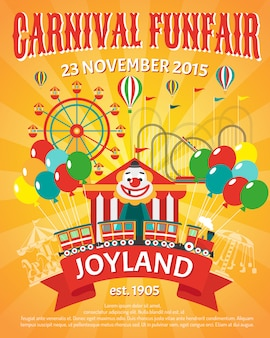 Funfair poster illustration