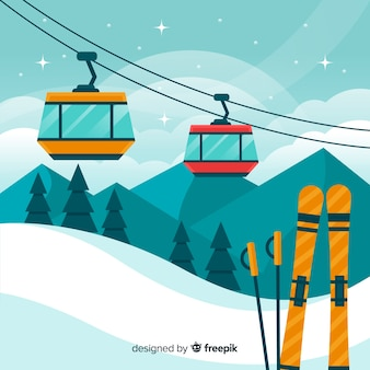 Funicular flat background