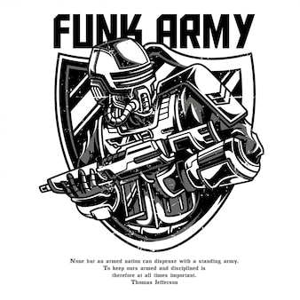 Funk army black and white