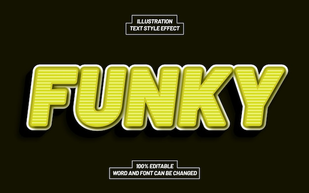 Funky 3d bold text style effect