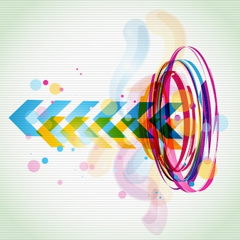 Funky colorful arrow background