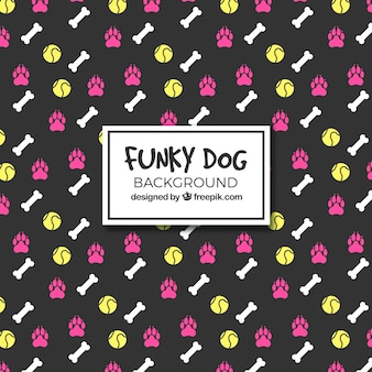 Funky dog background