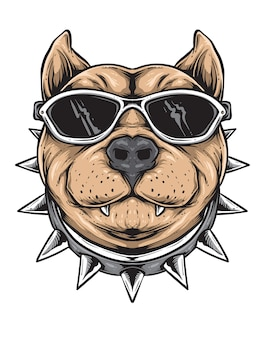 Funky dog vector