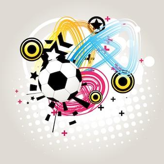 Vettore astratto calcio in sfondo funky