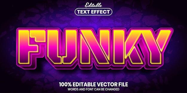 Веселый текст, редактируемый текстовый эффект в стиле шрифта