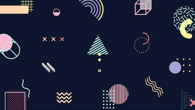 Modello di banner del blog di memphis tono funky
