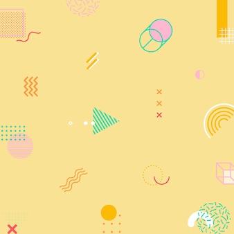Funky tone memphis patterned social template
