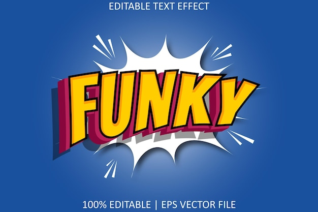 Funky with modern comic style editable text effect