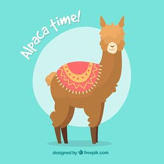 Funny alpaca background