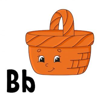 Funny alphabet. abc flash cards
