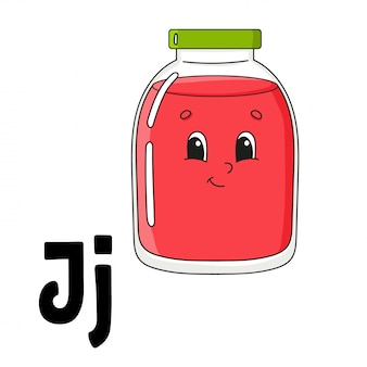 Funny alphabet with j letter
