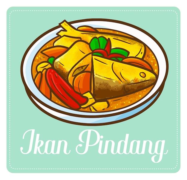 Забавный и вкусный «икан пинданг», традиционное рыбное блюдо из индонезии.