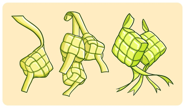 Eid mubarak을위한 재미 있고 맛있는 ketupat 컬렉션