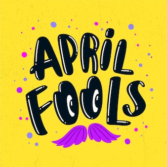 Funny april fool's day and mustache Free Vector
