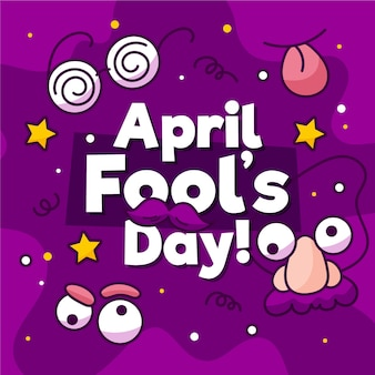 Funny april fool's day with goofy masks