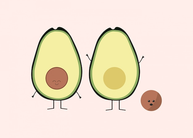 Funny avocado design
