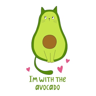 Funny avocado  vector illustration good for posters t shirts postcards
