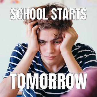 Divertente meme sul ritorno a scuola