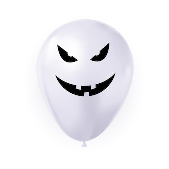Funny balloon for halloween isolated on white. vector illustration eps10