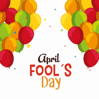 Funny balloons to fools day celebration