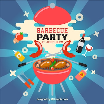 Funny barbecue party design