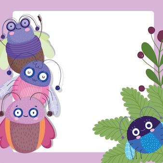 Смешные ошибки милые животные мультфильм иллюстрации баннер дизайн шаблона