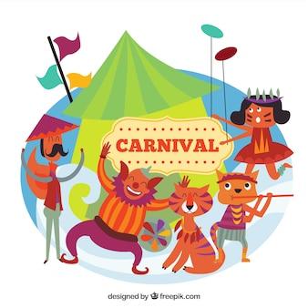 Смешные сцены карнавала
