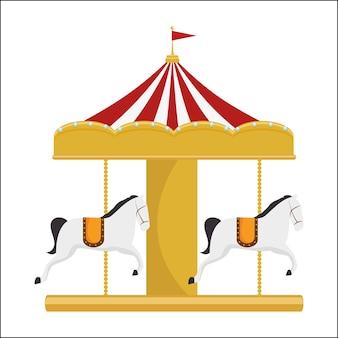 面白いカルーセル馬サーカスフェスティバル