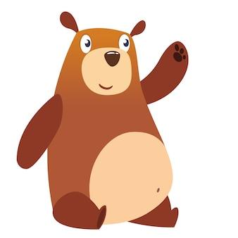 Funny cartoon bear