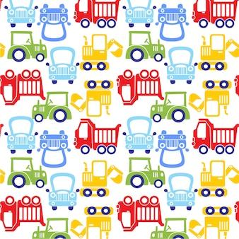 Funny cartoon car pattern