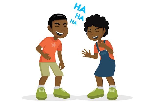 재미 있는 만화 캐릭터 어린이 웃음 funvector eps10
