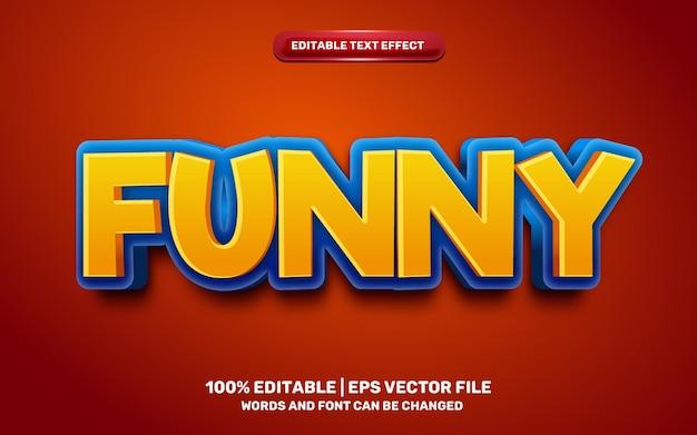 Funny cartoon comic game 3d editable text effect