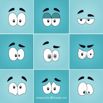Funny cartoon eyes pack