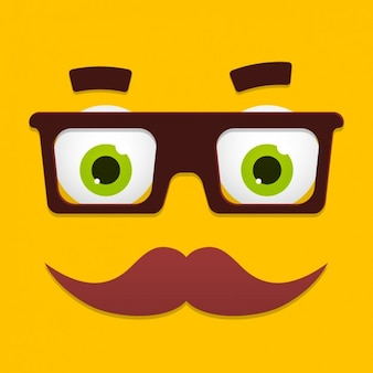 Funny cartoon face design
