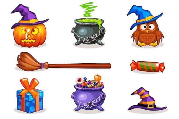 Funny cartoon halloween icons