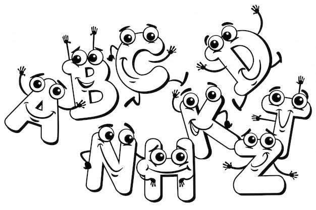 Забавный мультяшный алфавит