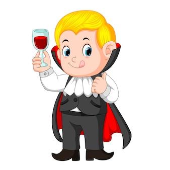 Funny cartoon little vampire
