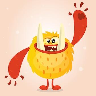 Funny cartoon monster. halloween