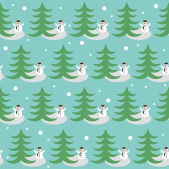 Забавный мультяшный рисунок для использования в дизайне на поздравительной открытке зимних праздников с дедом морозом